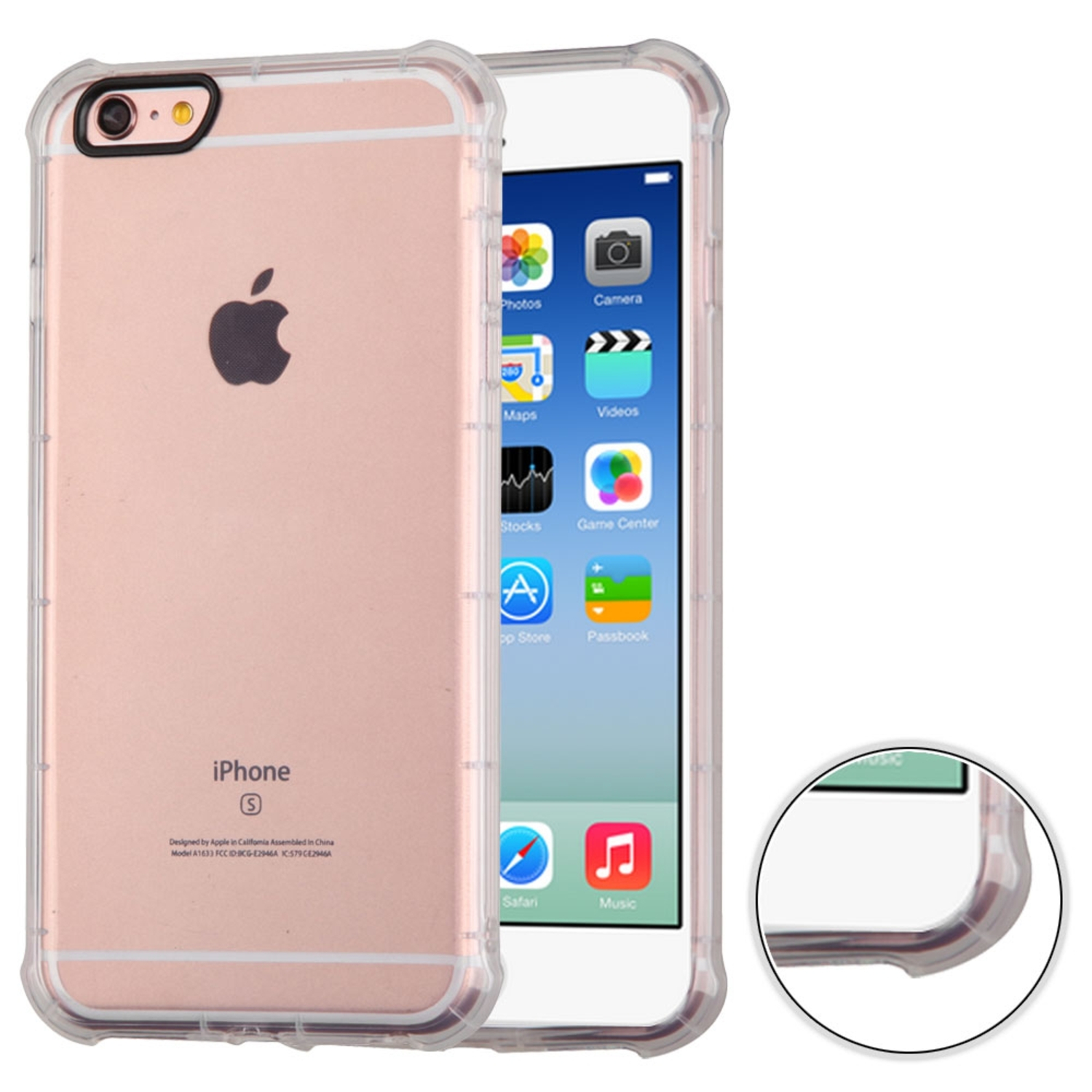 Insten Rubber Cover Case For Apple iPhone 6 / 6s - Clear