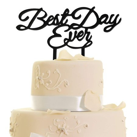 JennyGems - Best Day Ever - Wedding & Anniversary, 16th & 21st Birthday, Cake Topper and/or Centerpiece