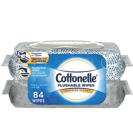 Cottonelle FreshCare Flushable Flushable Wipes, 84 Ct