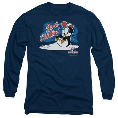 Chilly Willy Penguin Cartoon Character Just Chillin Adult Long Sleeve T-Shirt