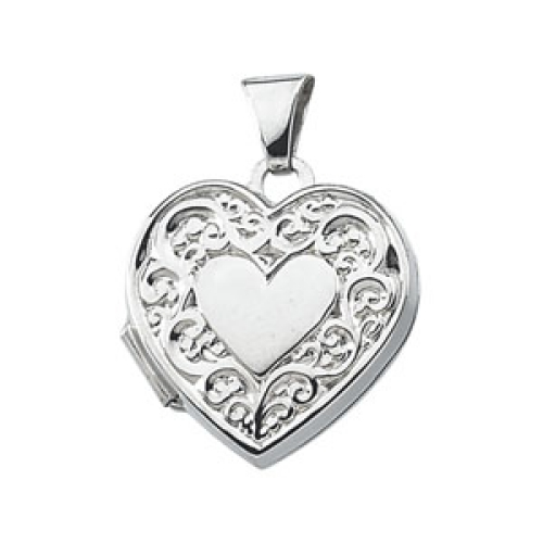 Sterling Silver Heart Shaped Locket 15x15.5mm