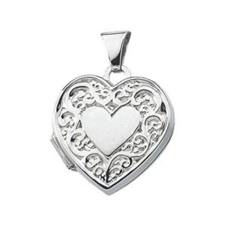 Sterling Silver Heart Shaped Locket 15X15 5Mm   1 1 Grams