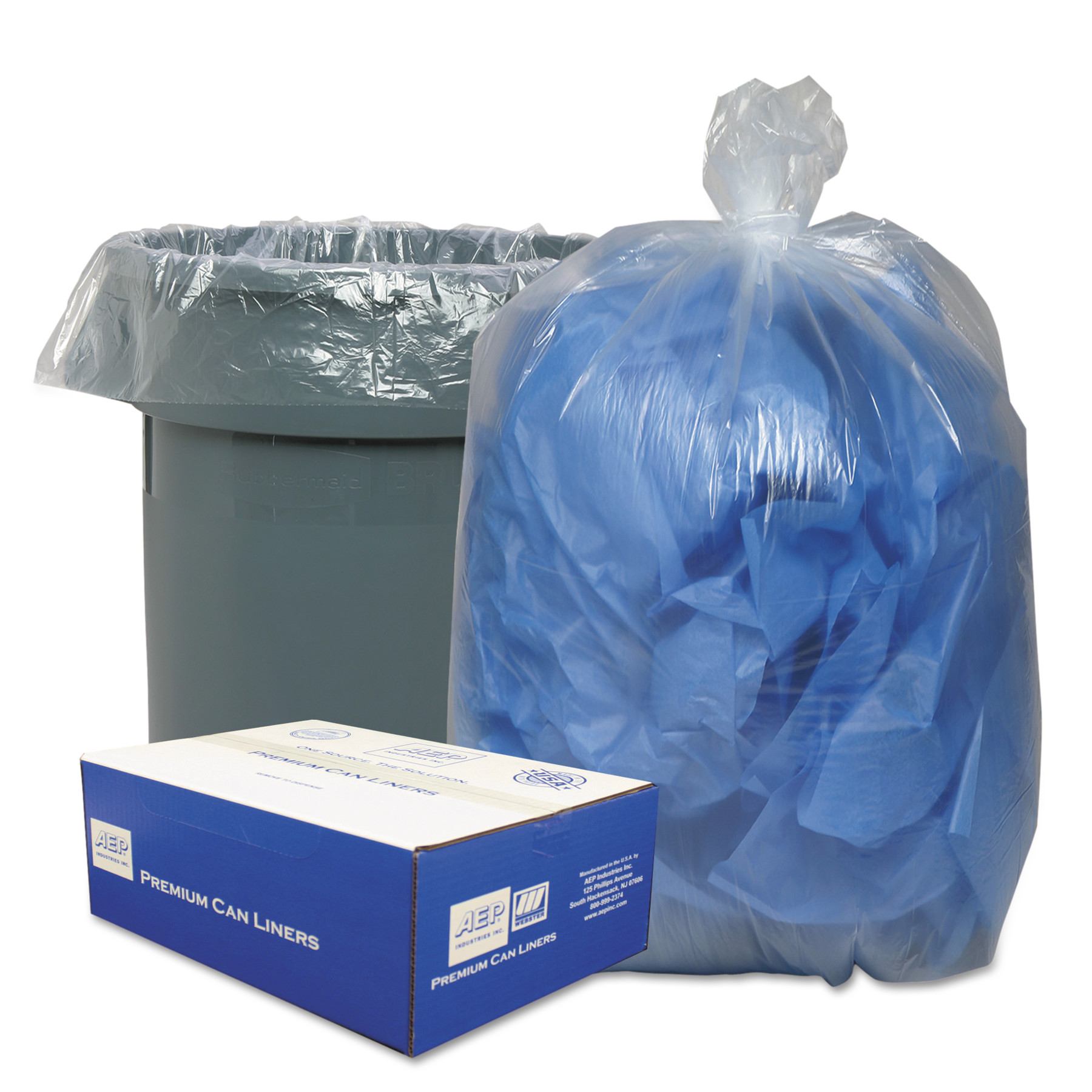 Classic Linear Clear Low-Density Can Liner, 31-33 gal, 250 ct
