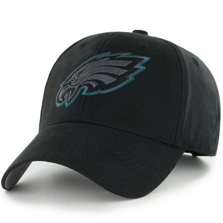 Youth Fan Favorite Black Philadelphia Eagles Basic Adjustable Hat - OSFA