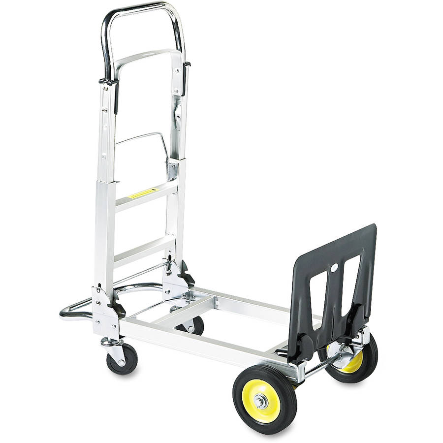 Safco Stow & Go Aluminum Cart, 110lb Capacity