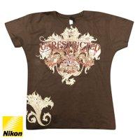 Nikon Ladies Unrestricted T-Shirt (M) - Chocolate