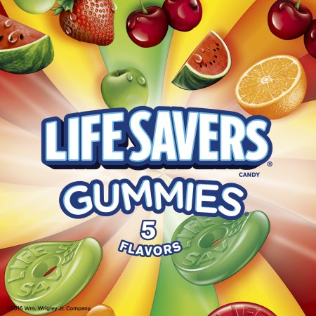 (4 Pack) Life Savers Candy Gummies 5 Flavors, 7.0 OZ