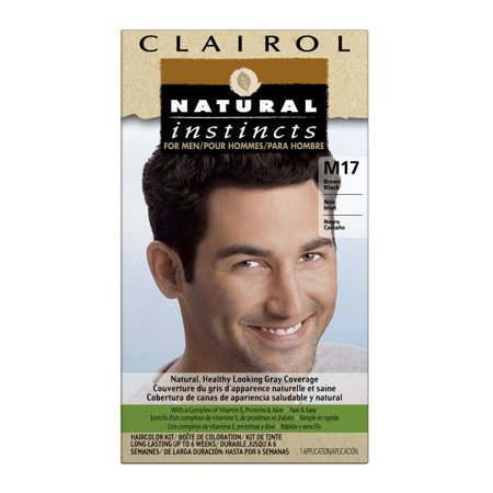 Clairol Natural Instincts Hair Color for Men, M17 Brown, Black, 1