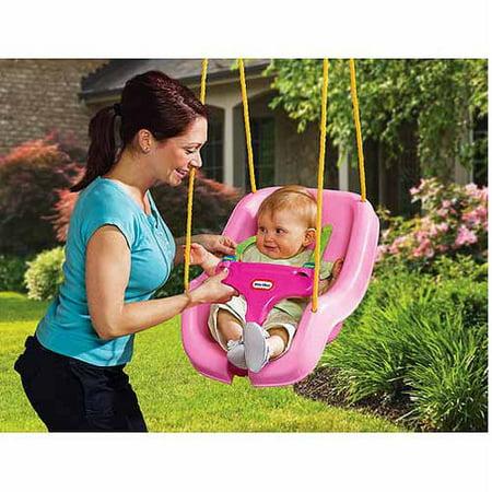 Little Tikes 2-in-1 Snug 'n Secure Swing - Pink (Brown Box)