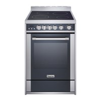 """Magic Chef 24"""" Freestanding Electric Range in Stainless Steel/Black"""