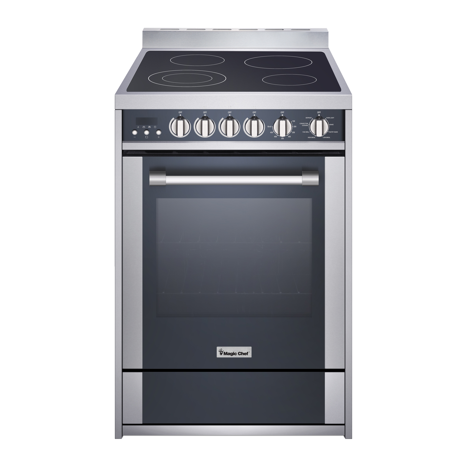 "Magic Chef 24"" Freestanding Electric Range in Stainless Steel/Black"