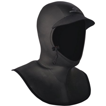 hyperflex wetsuits men's hood 5/3mm bibbed hood, black, large - surfing, windsurfing &