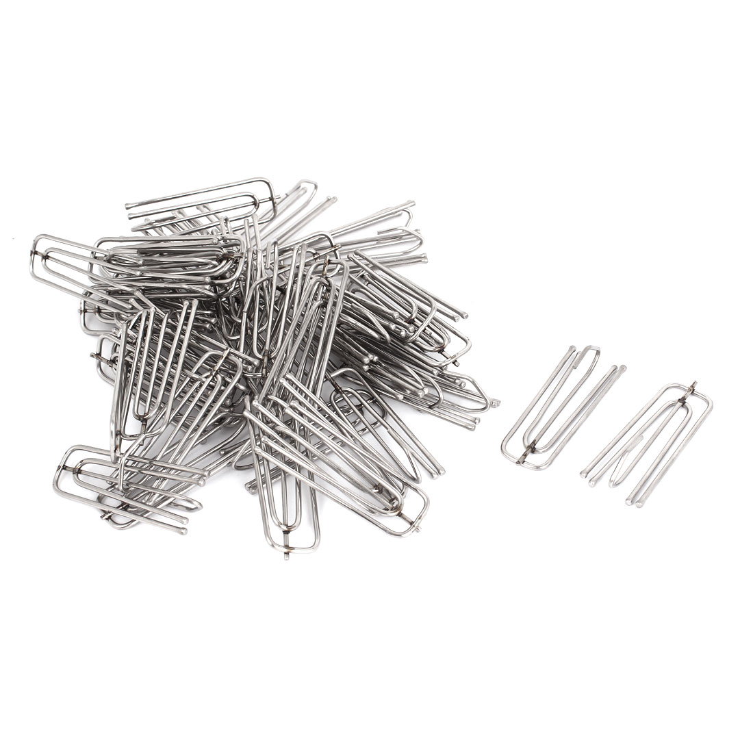 Window Treatment Stainless Steel 4 Prongs Pinch Pleat Drapes Curtain Hooks 50pcs by Unique-Bargains