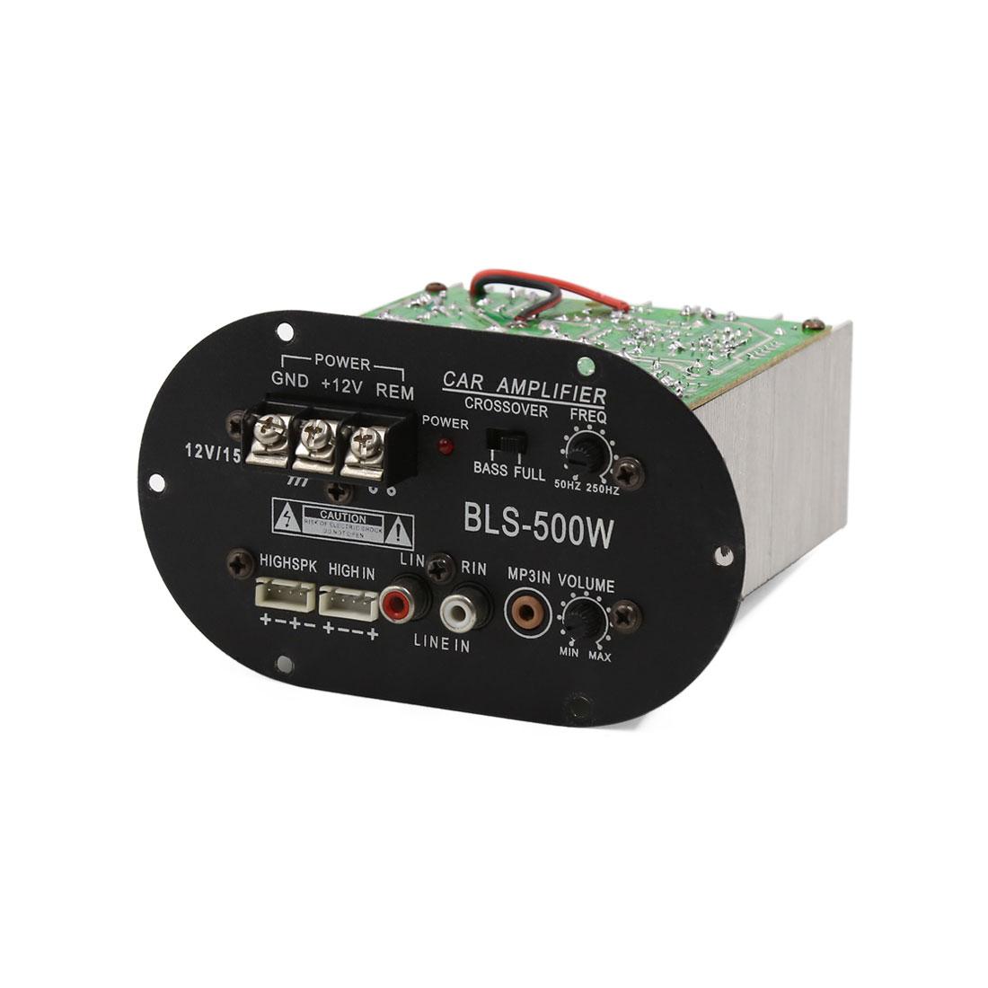 Unique Bargains 6-10 Inch Subwoofer Audio Speaker Power Amplifier Board 12V 500W for Car