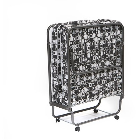 Torino Folding Bed Rollaway Twin Guest Black And White