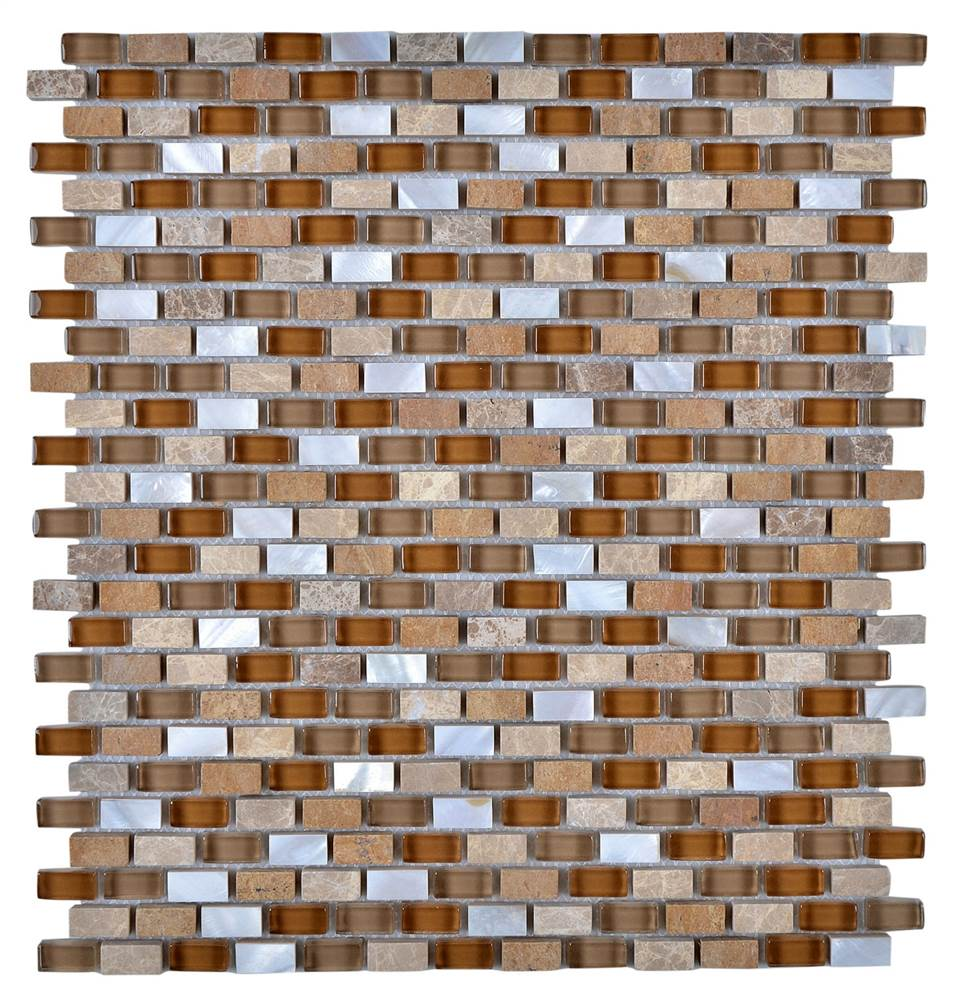 Contemporary Mosaic Bathroom Mix Wall Tile