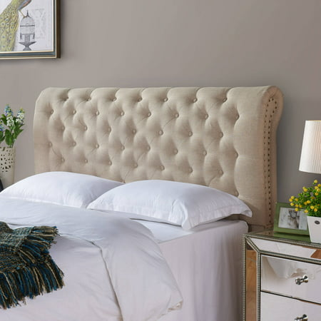 better homes gardens rolled tufted headboard sand multiple sizes. Black Bedroom Furniture Sets. Home Design Ideas