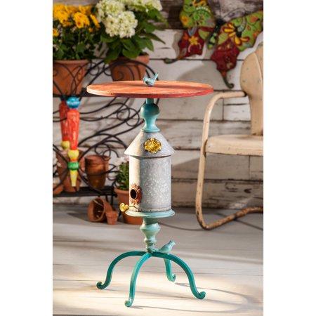 Cape Craftsman Metal Birdhouse Table