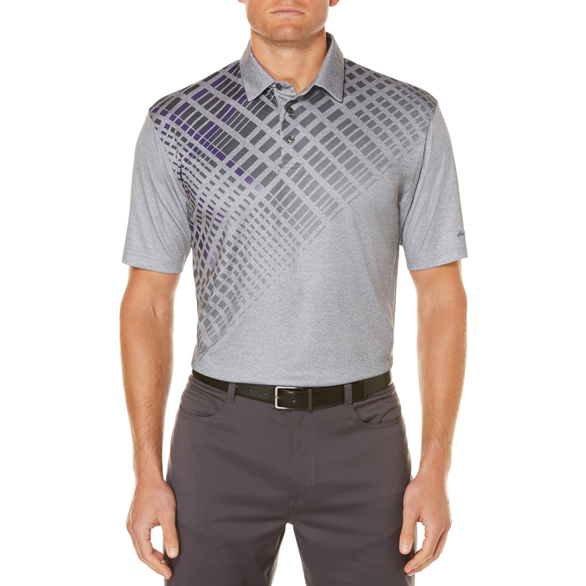 Men's Performance Short Sleeve Ombre Printed Golf Polo by
