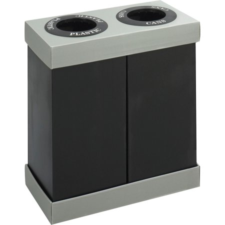 Safco, SAF9794BL, Double Recycling Center Receptacles, 1, Black ()