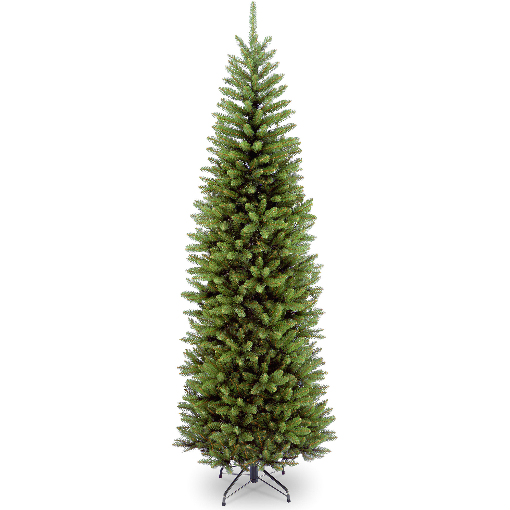 national tree non lit 7 12 kingswood fir hinged pencil artificial christmas tree walmartcom - Christmas Tree Walmart
