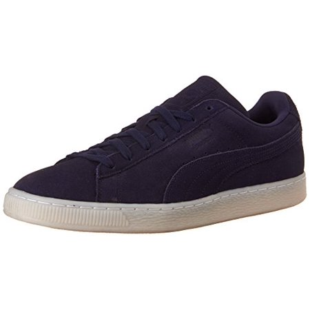 Puma Men's Suede Classic Colored Round Toe Suede Fashion Sneakers (7.5, Peacoat
