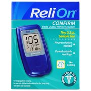 ReliOn Confirm Blood Glucose Monitor, Blue