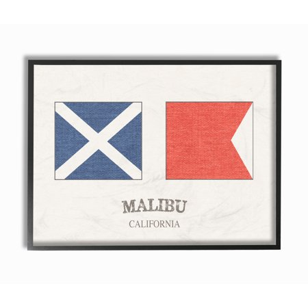 The Stupell Home Decor Collection Malibu Nautical Flags Oversized ...