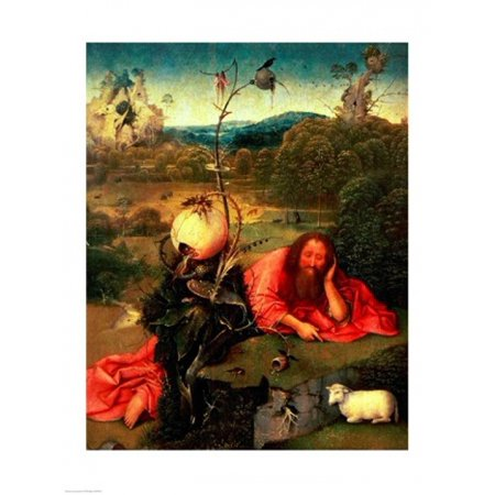St John the Baptist in Meditation Canvas Art - Hieronymus Bosch (24...