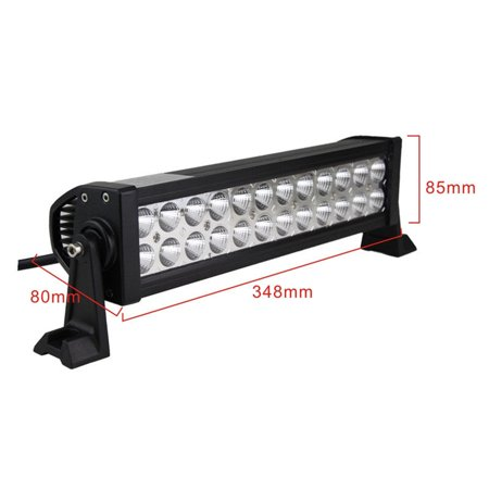 72W 14Inch LED Work Light Bar Flood Fog Driving Lamp Offroad SUV Boat Truck (Utv Roll Bar)