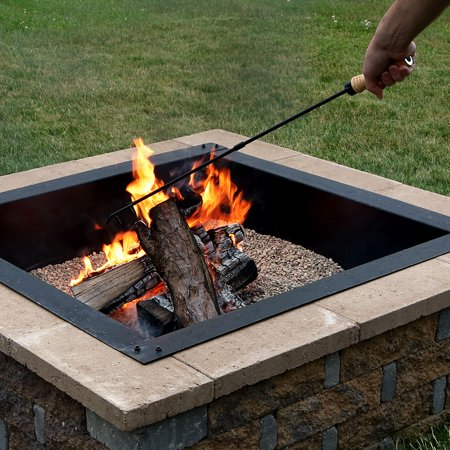 Sunnydaze Fire Pit Poker with Wood Handle, 32 Inch Long