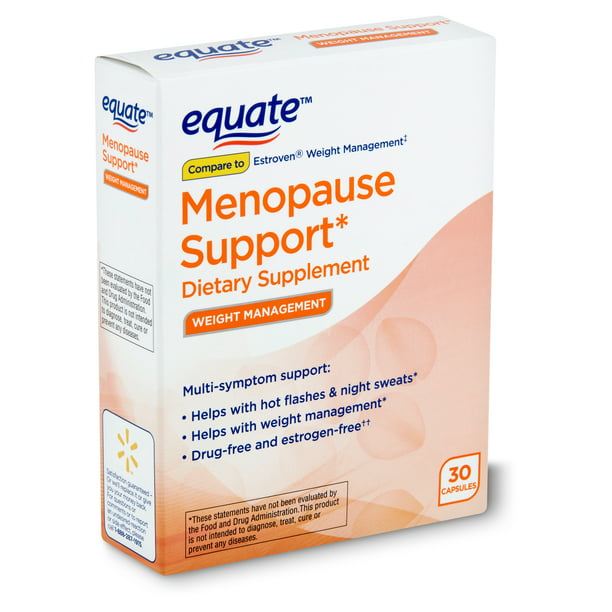 Equate Menopause Support Weight Loss Supplement, 30 Capsules