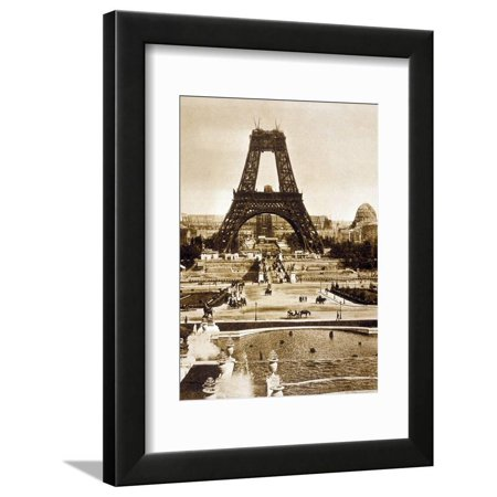 Floor 14 Halloween Tower (View from Chaillot Palace of Eiffel Tower Built for World Fair in 1889, Here 2nd Floor, 1888 Framed Print Wall)