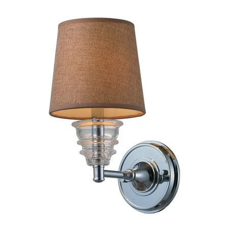 Landmark Lighting 66801-1 Insulator Glass 1 Light Sconce in Polished