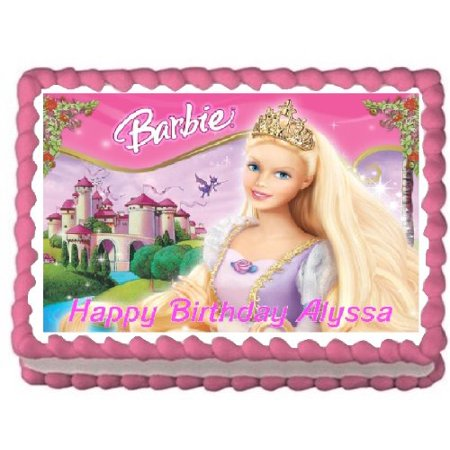 Barbie Edible Frosting Image Cake Topper