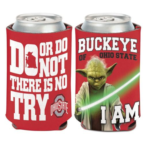 Ohio State Buckeyes Official NCAA 4 inch  Star Wars Yoda Insulated Coozie Can Cooler by Wincraft