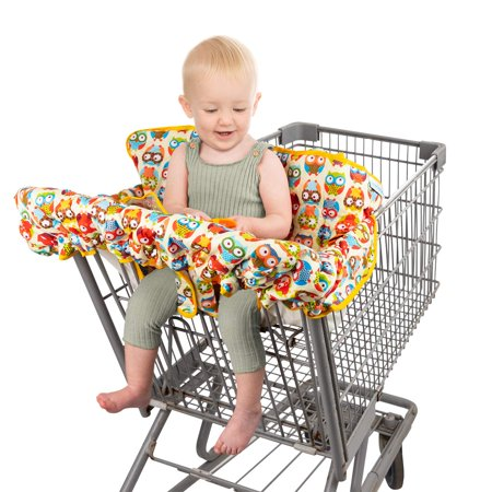 Homeries Shopping Cart Cover for Babies & Toddlers - High Chair Seat Cover for Restaurants & Homes - with 2 Toys Attached - for Boys & Girls Homeries Shopping Cart Cover for Babies & Toddlers - High Chair Seat Cover for Restaurants & Homes - with 2 Toys Attached - for Boys & Girls