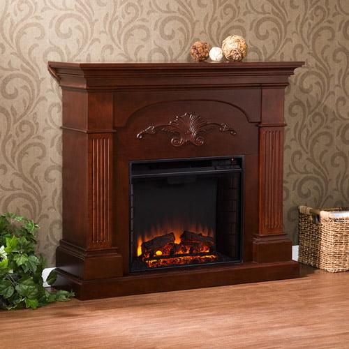 Southern Enterprises Chamberlain Electric Fireplace, Mahogany