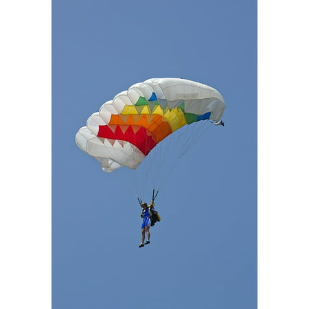 Framed Art For Your Wall Parachute Parachute Flies Parachutist Fly Pilot 10x13 (Pilot Parachute)