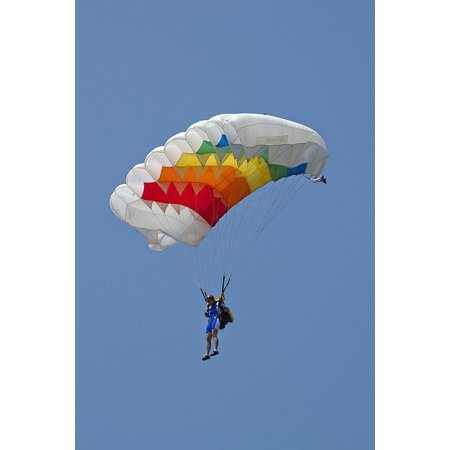 Laminated Poster Parachute Parachute Flies Parachutist Fly Pilot Poster Print 24 x (Pilot Parachute)