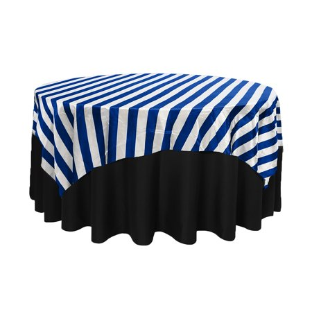 Your Chair Covers 90 Inch Square Satin Table Overlay Royal Blue