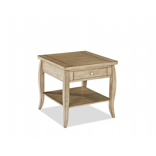 Klaussne Furniture 012013095058 24 x 24 x 24 in. Glen Valley Square End Table by Klaussne Furniture