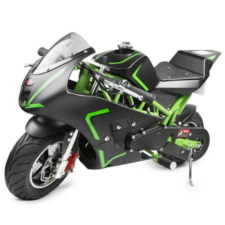 40CC 4-Stroke Gas Power Kids Pocket Bike Mini Motorcycle, Green
