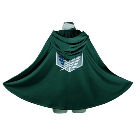 Japan Anime Shingeki No Kyojin Cloak Attack on Titan Cosplay Cloth Green By Generic
