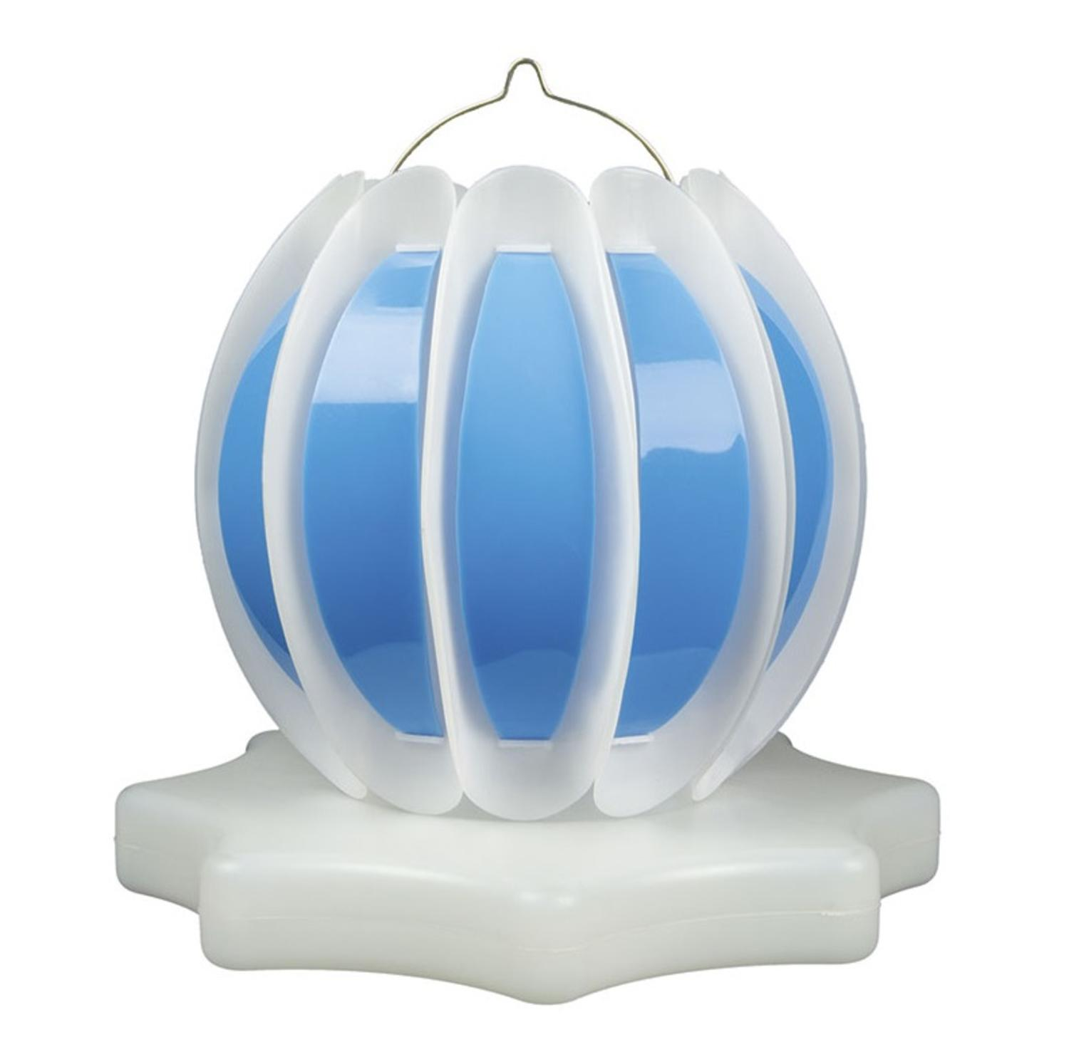Set of 2 Blue and White Solar Powered Swimming Pool or Spa Floating or Hanging Lanterns 9.25