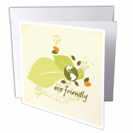 53b4ca876632 3dRose Eco-Friendly Leaf Earth Day Environmental Vector Design, Greeting  Cards, 6 x 6 inches, set of 12