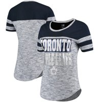 Product Image Toronto Maple Leafs 5th   Ocean by New Era Women s Space Dye  Stripe Sleeves T- 2f3694356