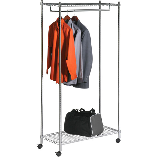 Honey Can Do Urban Deluxe Commercial Garment Rack, Chrome