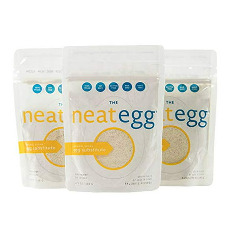 neat - Vegan - Egg Mix (4.5 oz.) (Pack of 3) - Non-GMO, Gluten-Free, Soy Free, Egg Substitute