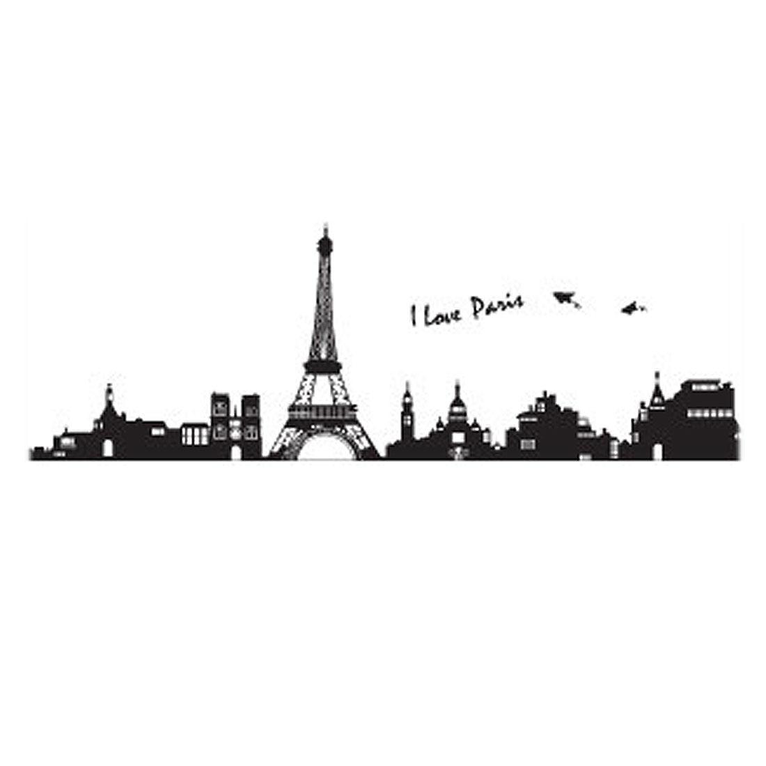 Paris Eiffel Tower Diy Home Room Decal Wall Decor Sticker